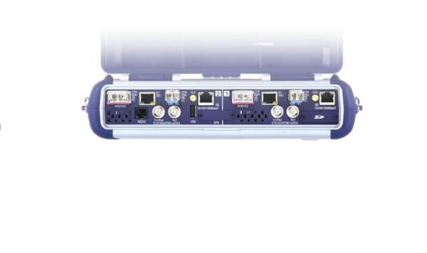 VeEX TX300s: Ansicht Eingänge