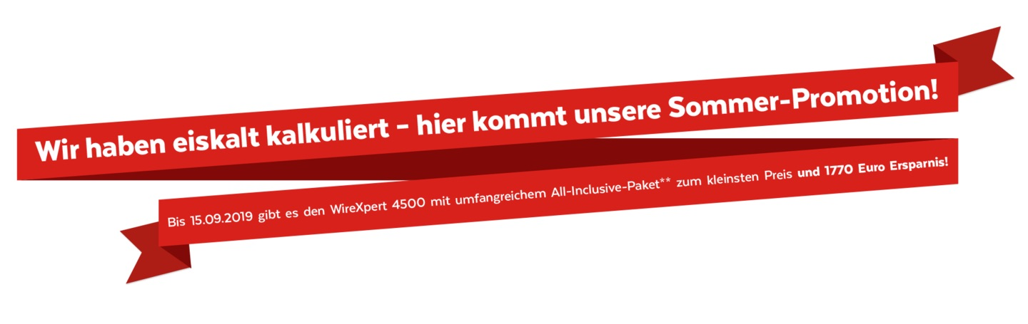 Rotes Promo-Banner